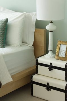 Use suitcases elsewhere in the house to store out-of-season linens, blankets, or sweaters.