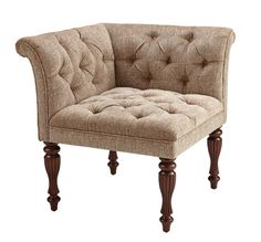 ♥Bombay & Co, Inc.::Living::Chairs::Cambridge Tufted Corner Chair