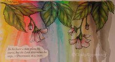 Playing with Inktense Pencils in my Art Journal. ©CindyRippe2013 www.cindyrippe.blogspot.com