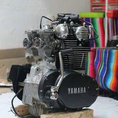 Dijual Mesin Yamaha XS650 Yamaha...Kondisi HOT Yamaha 650, Yamaha Cafe Racer, Yamaha Motorcycles, Custom Motorcycles, Xs650 Bobber, Scrambler, Engineering Works, Motorcycle Engine, Bike Ideas
