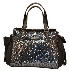 Juicy Couture Star Shine Sequin Daydreamer Handbag Tote Purse-One Size Gucci Purses, Burberry Handbags, Tote Handbags, Tote Purse, Purse Wallet, Black Gucci Purse, Prada Bag, Black Handbags, Juicy Couture