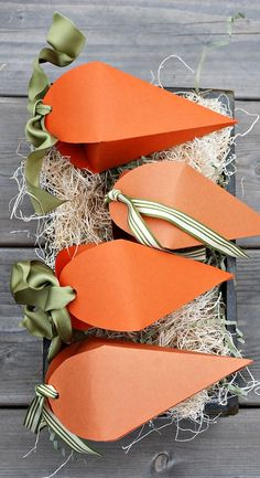 Free Printable Carrot Easter Treat Boxes by Ella Claire
