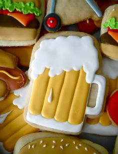 .There is a whole list of cookies to order on the right hand side... you have to really look for the adult themed cookies that would work for your party.....Oh Sugar Events: beer
