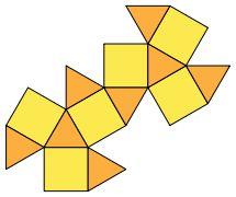 Кубооктаэдр / Cuboctahedron  Развертка.