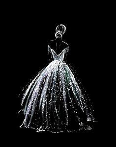 Starry Night Dress, Starry Night Wedding, Dress Night, Starry Nights, Black Paper Drawing, Motif Art Deco, Wedding Art, Art Drawings Sketches, Cute Wallpapers