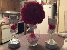 Centerpiece for any occasion Quince Centerpieces, Banquet Centerpieces, Wedding Centerpieces, Wedding Decorations, Center Pieces For Quinceaneras, Sweet 16 Decorations, Dollar Tree Decor, Quinceanera Decorations, Flower Ball