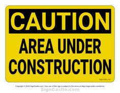 Terrible image within free printable under construction signs