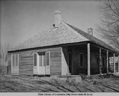 Slave hospital at Melrose plantation in Natchitoches Louisiana in 1940 :: State Library of Louisiana Historic Photograph Collection