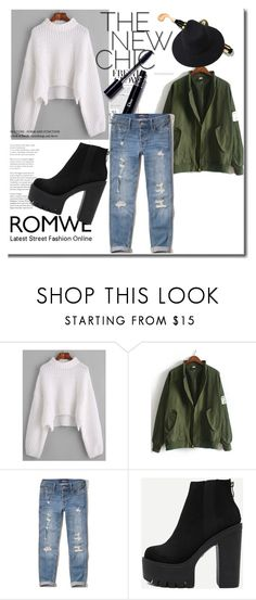 """""""Romwe 5/IV"""" by amina-haskic ❤ liked on Polyvore featuring Hollister Co."""