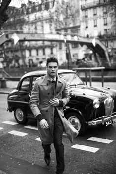 Baptiste Giabiconi @MgM Paris representing the 50s inspired by Marlo Brandon by Magdalena Lawniczak & Fashion by Fleur Huynn Evans for ODDA 8 Decades issue