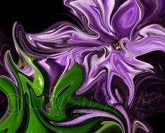 """Tickle Me"" from Suzy2.0: Floral Digital Paintings, #art, #macro, #floral, #purple"