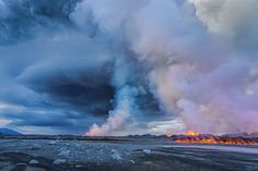 Steam rises into the air near the Bardarbunga Volcano on Sept. 2, 2014.  IMAGE: ARCTIC-IMAGES/CORBIS