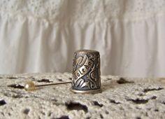 Vintage Pewter Thimble Toledo Spain Thimble by cynthiasattic, $25.00