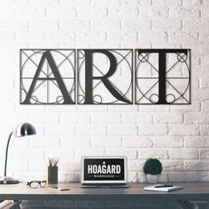 Hoagard - Metal Wall Art and Decorations 3d Wall Decor, Metal Wall Decor, Hanging Wall Art, Art Decor, Home Decor, Outdoor Metal Wall Art, Letter Wall Art, Metal Art Projects, Metal Artwork