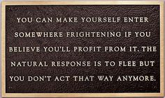 Jenny Holzer, Living Series: You can make yourself enter, 1981  cast bronze  6.14 x 10.24 inches (15.6 x 26 cm)