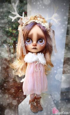 RESERVED for Kat Fauna OOAK Custom Blythe Doll 60 by SweetCrate