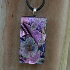 Violet Blossoms Fused Glass by FusedElegance.deviantart.com on @deviantART