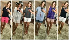 Easy summer outfits created from a summer capsule wardrobe, perfect for packing!  Summer Challenge Outfits - Week Three Round Up! http://getyourprettyon.com/summer-challenge-outfits-week-three-round/?utm_campaign=coschedule&utm_source=pinterest&utm_medium=Alison%20Lumbatis%20%7C%20Get%20Your%20Pretty%20On&utm_content=Summer%20Challenge%20Outfits%20-%20Week%20Three%20Round%20Up%21