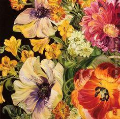 I have always love Bobbi Burgers florals,. & always love a dark background!