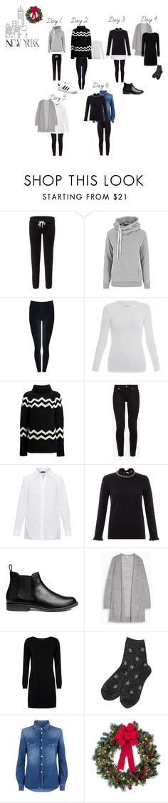 """""""New York Einter Capsule"""" by bertina82 on Polyvore featuring adidas Originals, Monrow, M&Co, Majestic, Joseph, Ted Baker, Hobbs, Cocoa Cashmere, 7 For All Mankind and Improvements"""