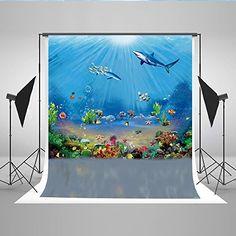 Kate Aquarium Background Sea Shark Starfish Kelp Fish Photo Backdrop 5 x Beach Backdrop, Sea Shark, Aquarium Backgrounds, Photography Backdrops, Children Photography, Starfish, Jumping Jacks, Amazon, Prom