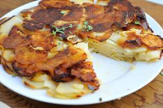 Haniela's: Potato Herb Galette with Garlic Cream