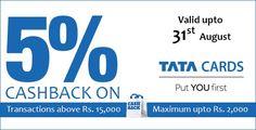 5% cashback on croma retail on tata cards