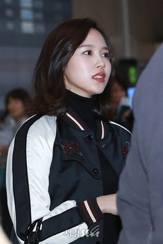 """""""Good morning, everyone! It's another Tuesday, and we still have some days to go through before the weekend finally strikes back.  I hope you all will have a wonderful day ahea—d! ♡  180226 김포✈️ #TWICE #트와이스 #MINA #미나 © PRESS"""""""
