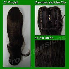 #2 Dark Brown Ponytail
