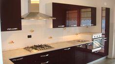 Mobila Bucatarie cu Usi MDF Vopsit Mov Lucios Bucatarie Moderna Yulmob Kitchen Cabinets, Design, Home Decor, Houses, Decoration Home, Room Decor, Kitchen Base Cabinets, Dressers