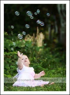 1 year old photo session (bubbles is a must)