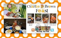 How To Have A Charlie Brown Feast Idea for home or classroom!