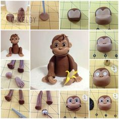 How to Curious George cake topper!