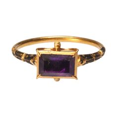 Renaissance Gemstone Ring; Western Europe  late 16th century