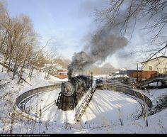 RailPictures.Net Photo: WMSR 734 Western Maryland Scenic Railroad Steam 2-8-0 at Frostburg, Maryland by Michael Summers