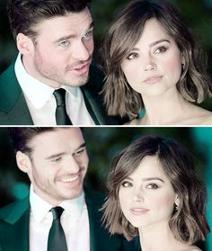Jenna Coleman and Richard Madden are just too ridiculously cute.