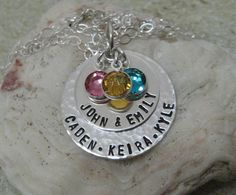 Mother's Day Mommy Necklace  Personalized  by LalabelCreations, $64.99