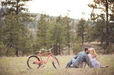 Bicycle Engagement Photo