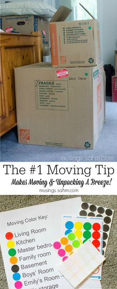 Moving Tip: Turn Chaos Into Organized Sanity This smart moving tip will make moving & unpacking a breeze!This smart moving tip will make moving & unpacking a breeze!