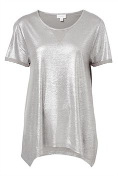 Foil Print T-Shirt, perfect for casual Christmas Eve Christmas Eve, Casual, Mens Tops, T Shirt, Inspiration, Clothes, Beauty, Women, Fashion