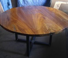 The Siberian Circle table top round table dining table wood table elm walnut siberian elm hardwood table live edge rustic modern industrial slab table