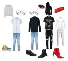 A fashion look from September 2017 featuring long sleeve tops, distressed jeans and leather ankle booties. Browse and shop related looks. Sander Sides, Johnston Murphy, Distressed Jeans, Ankle Booties, River Island, Ted Baker, Long Sleeve Tops, Alexander Mcqueen, Gap