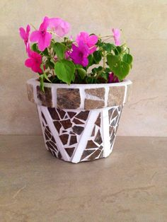 A personal favorite from my Etsy shop https://www.etsy.com/listing/236740384/mosaic-flower-pot-indoor-planter-herb