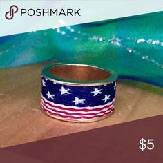 NEW Patriotic American Flag Ring NEW Patriotic American Flag Ring. Approximately a size 7. Will update when I find my ring sizer Jewelry Rings