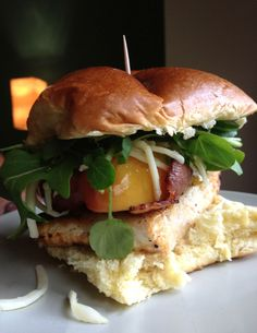 Chicken, Bacon and Apple Burger www.theglasgowscullery.com