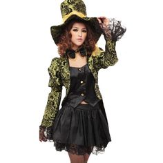 Green Pirate Captain Halloween V&ire Witch Circus Costume ($51) ? liked on Polyvore  sc 1 st  Pinterest & Purple Womens Halloween Sexy Circus Themed Costume ($25) ? liked on ...