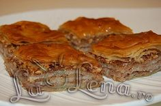 Baclava turceasca Brownie Bar, Eat Dessert First, Apple Pie, Sweets, Cookies, Cake, Desserts, Recipes, Brownies