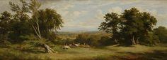 'Deer near Windsor Castle' 1848 James William Giles