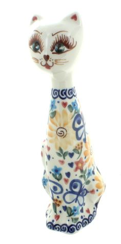 Butterfly Small Cat - Blue Rose Polish Pottery