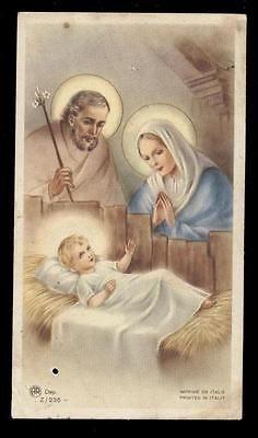 """santino-holy card"""""""" ediz. AR serie n.Z/236 NATIVITA'"""